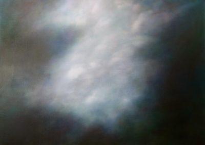 Nuage, blanc sur bleu