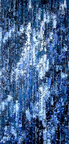 Ecorces bleu et blanc
